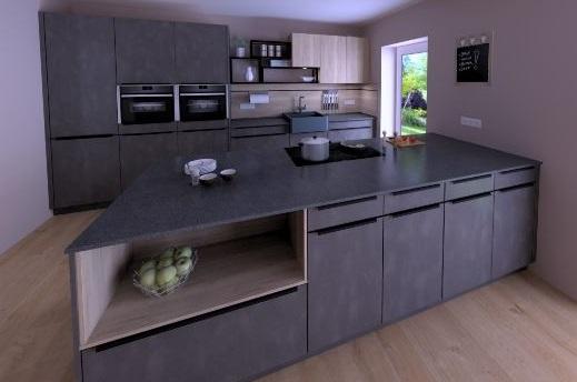 Eine Küche mit viel Platz